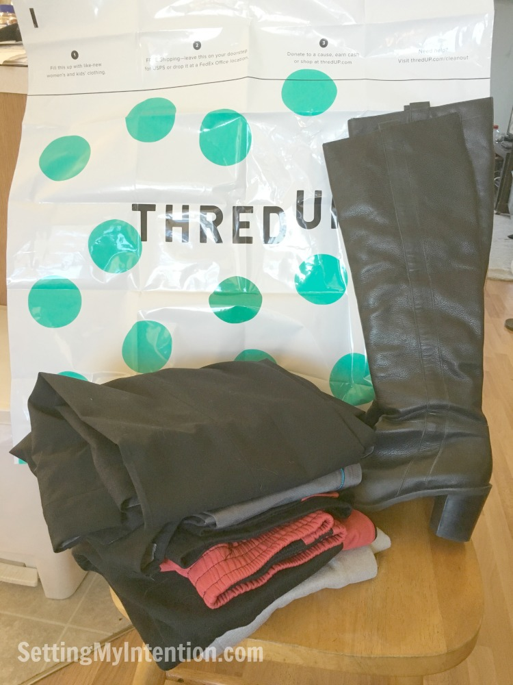 my first thredup clean up bag