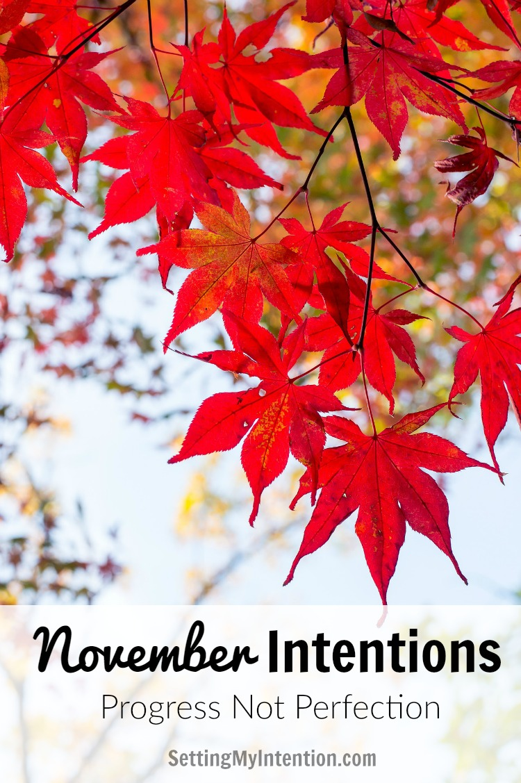 november intentions and goals