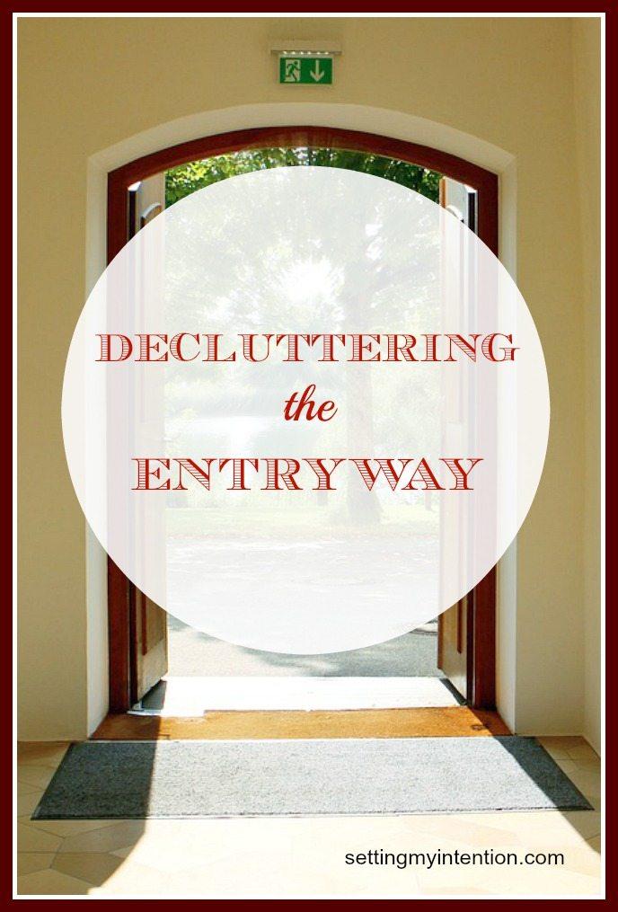 Decluttering the Entryway