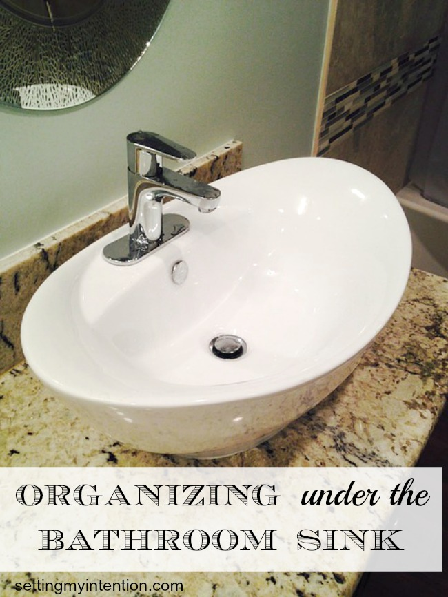 organizing under bathroom sink