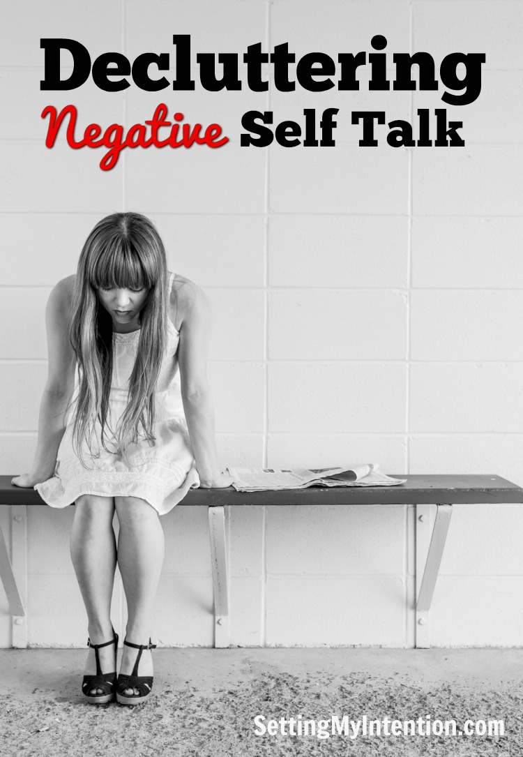 decluttering negative self talk