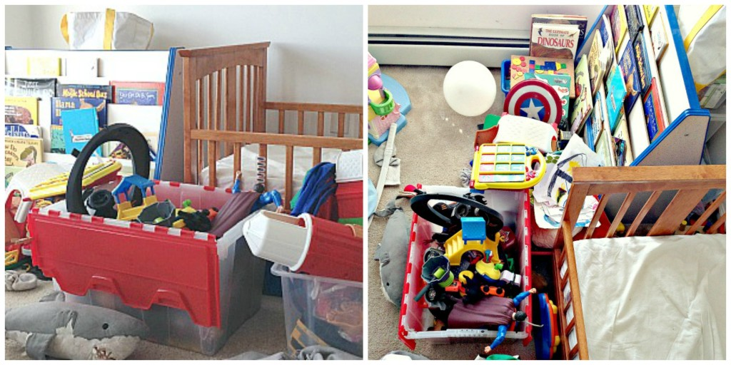 decluttering the children's toys