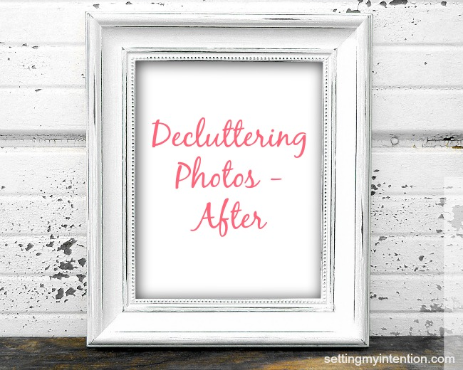 Decluttering Photos - After