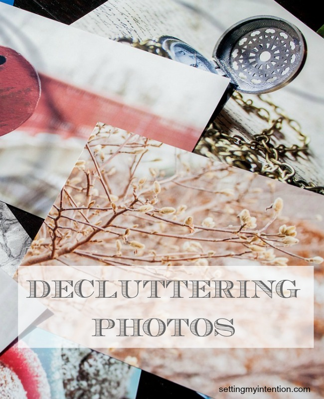 Decluttering photos