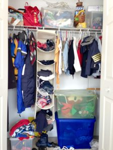 Clothing Storage Before