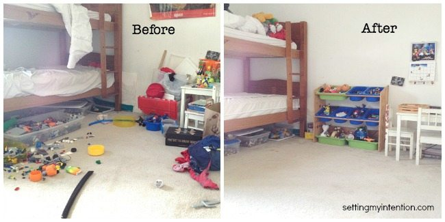 Before and After Bed