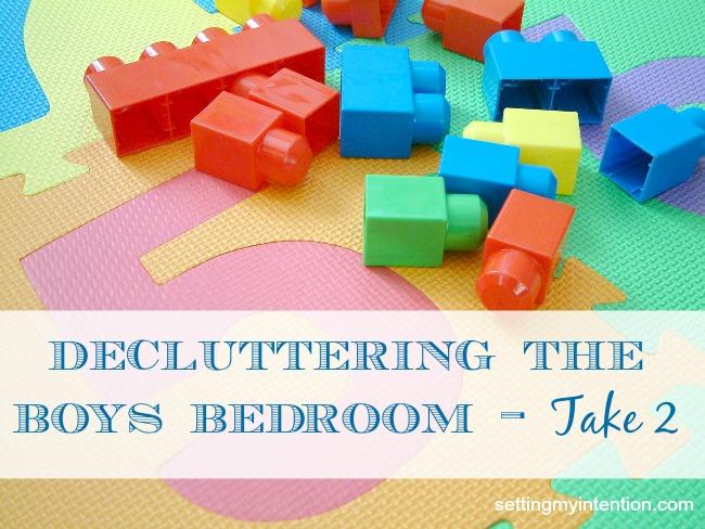 Decluttering the Boys Bedroom - Take 2