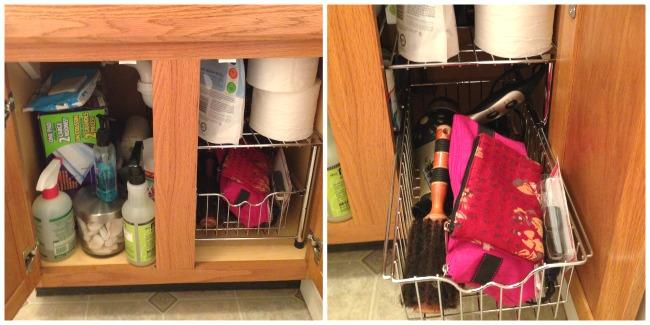 Under the bathroom sink organizer