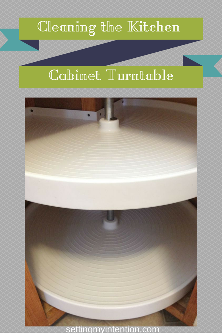 Cleaning Our Kitchen Corner Cabinet Turntable
