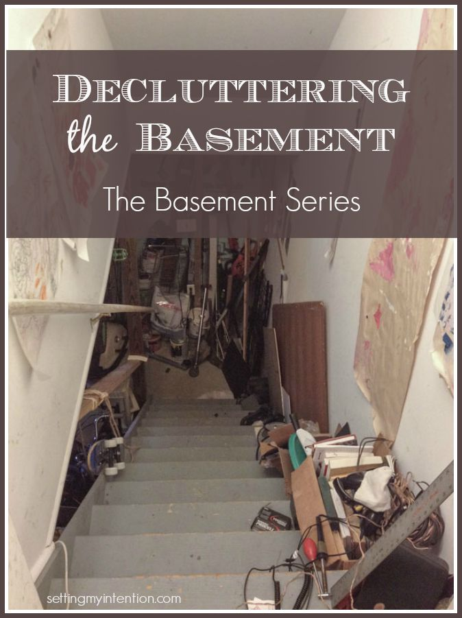 decluttering the basement
