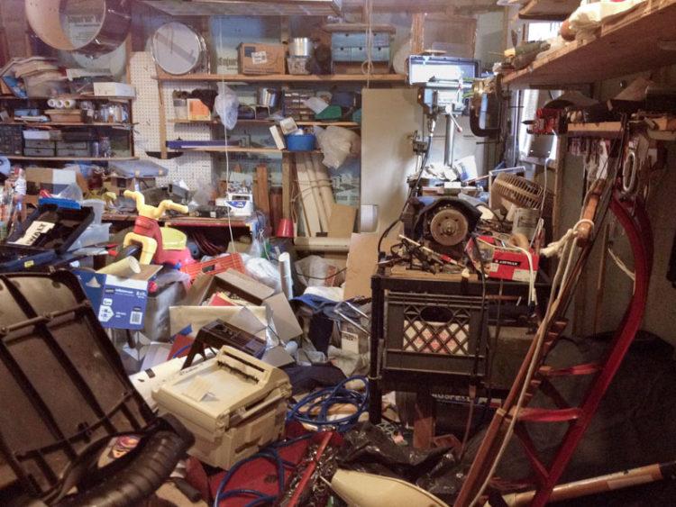 basement decluttering project