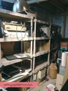 decluttering-basement-corner