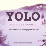 Y.O.L.O: You Only Live Once