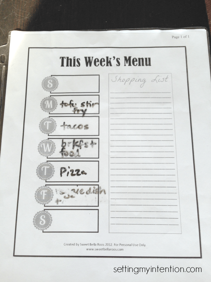 stress free menu planning for beginners