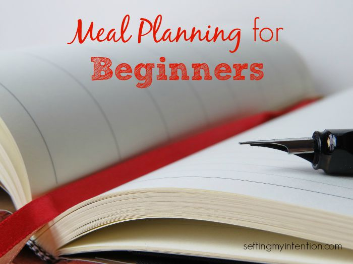 step one meal planning for beginners