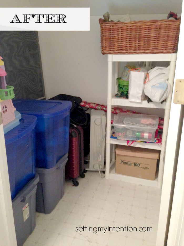 Declutter Your Home After Pic of Storage Closet