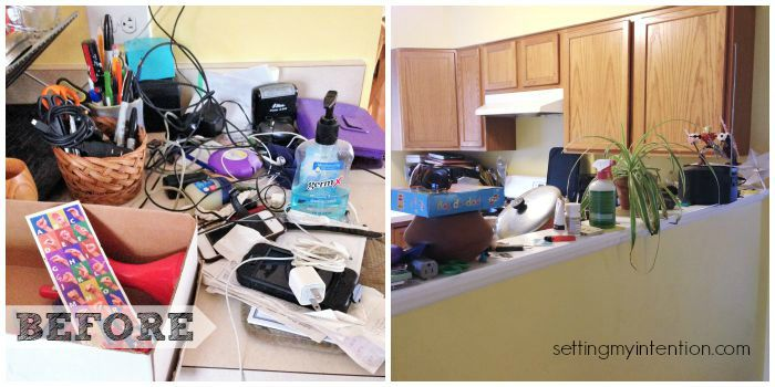 before photos declutter your home kitchen counter