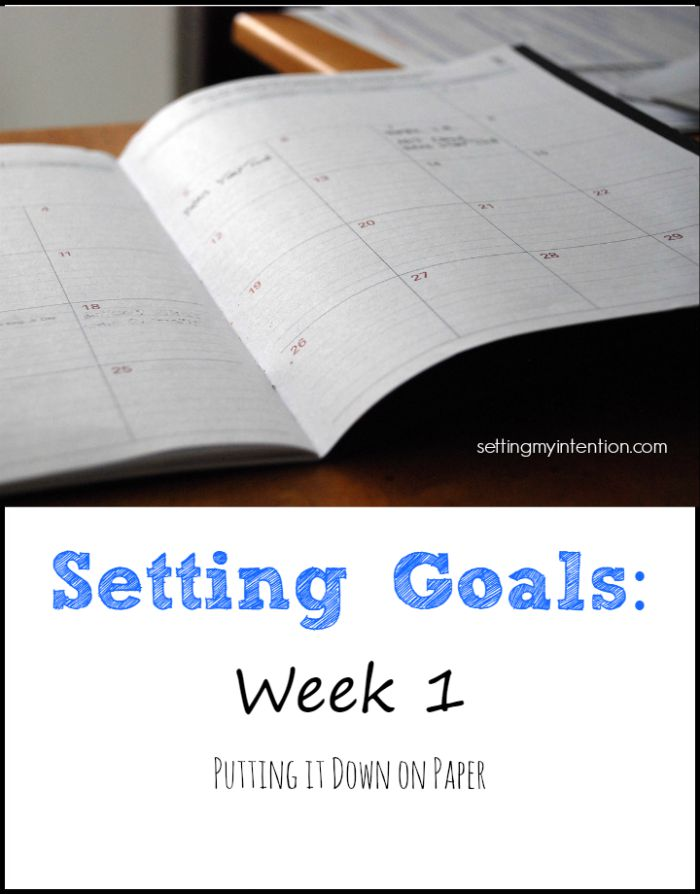 Goal Setting Week 1