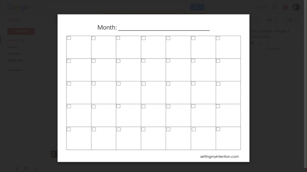 Free Monthly Dinner Menu Planner