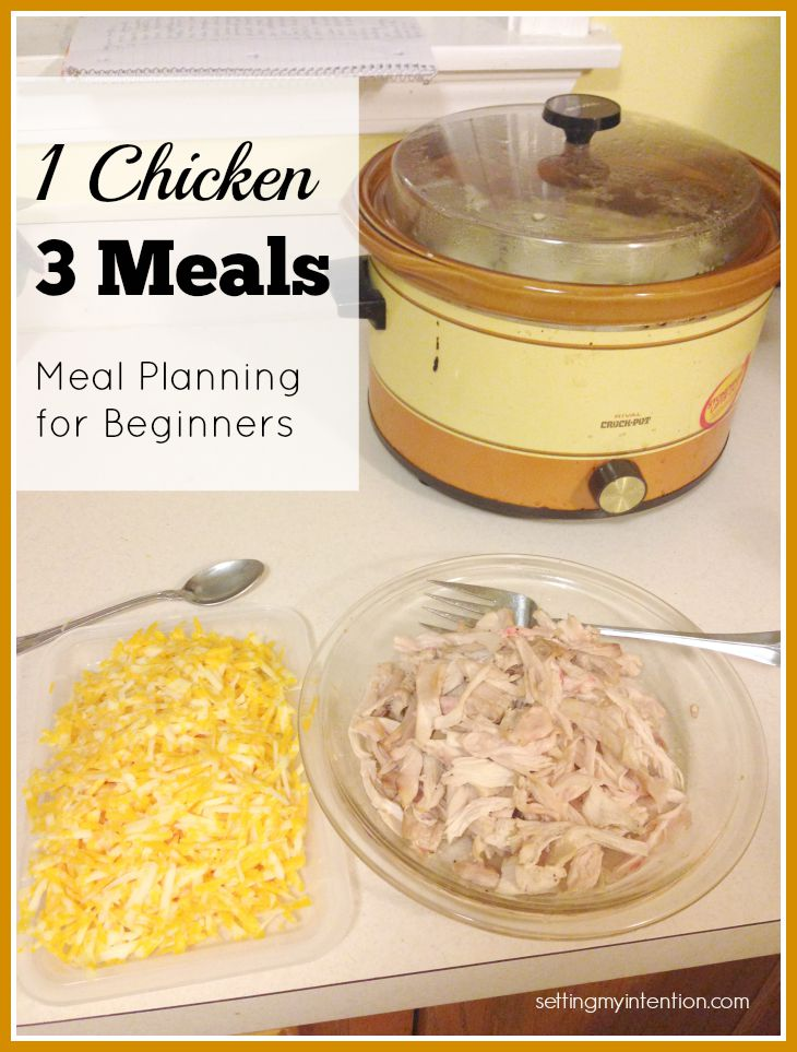 meal planning for beginners with chicken