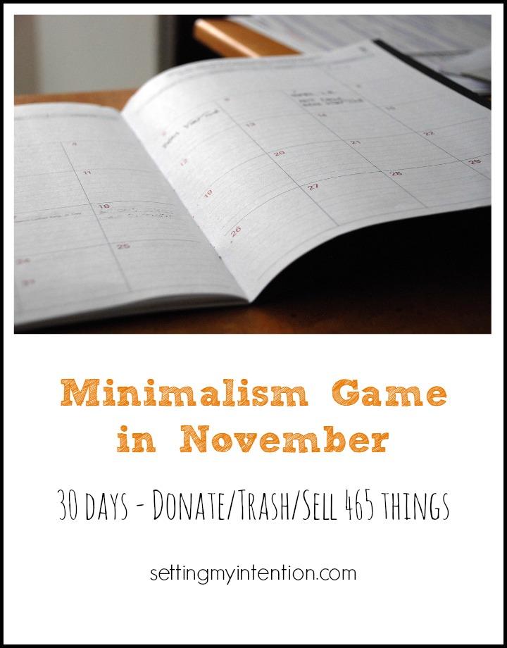 30 day minimalism game