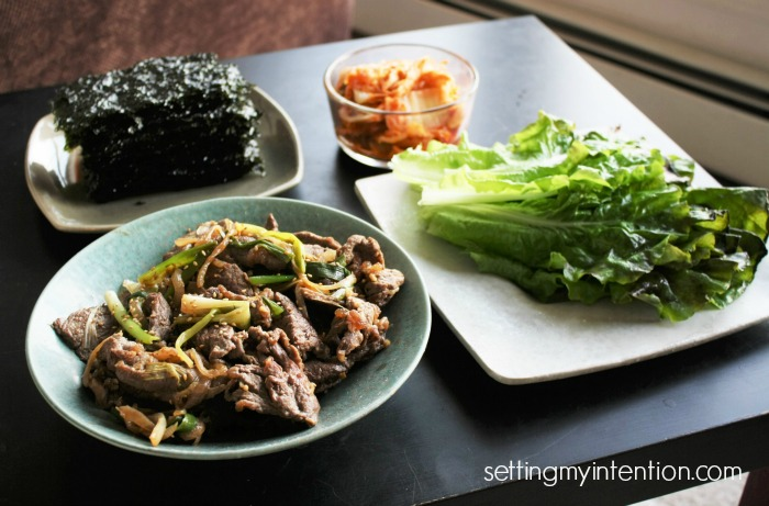 Bulgogi with Banchan