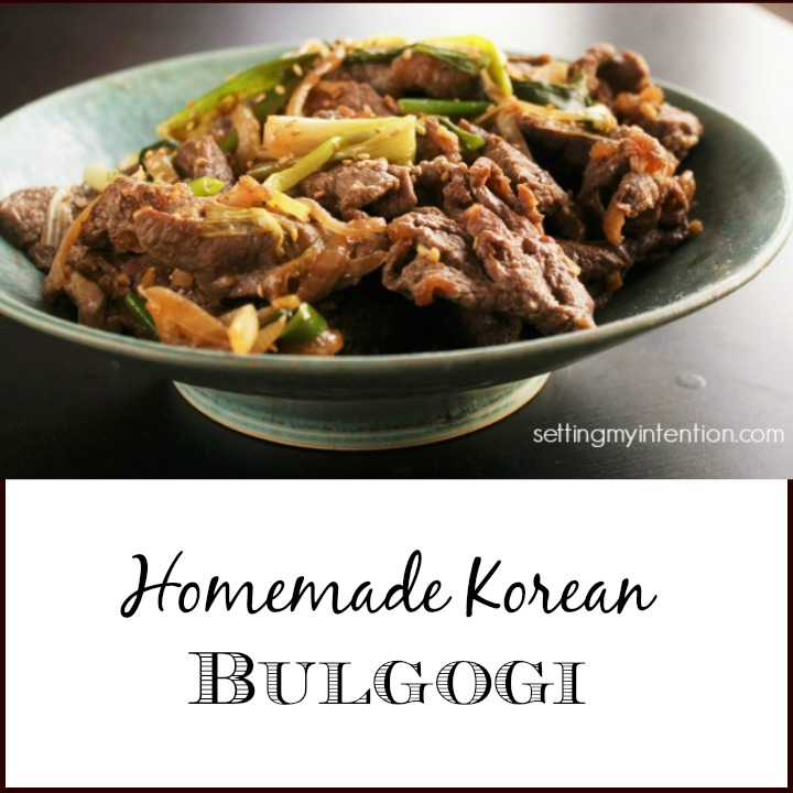 Homemade Korean Bulgogi
