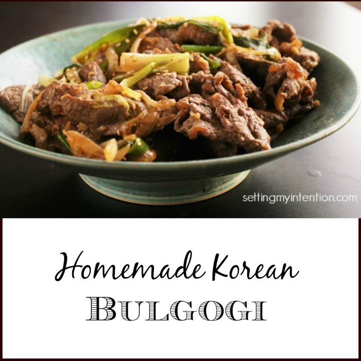 Homemade Korean Bulgogi