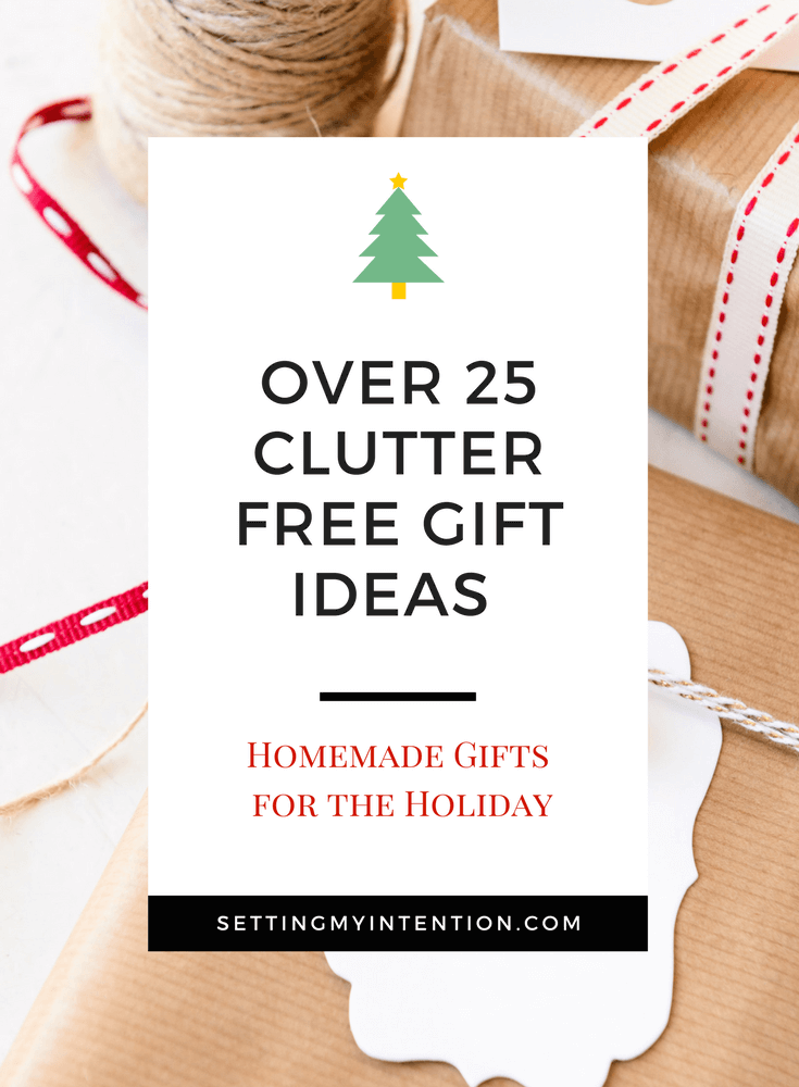 Over 25 clutter free homemade Christmas gifts for mom