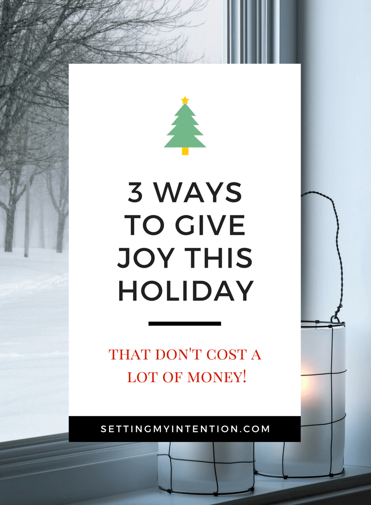 Joy of Giving during the holidays