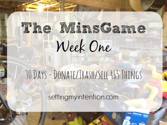 The minimalism challenge - donate, sell, trash 465 items within 30 days in November