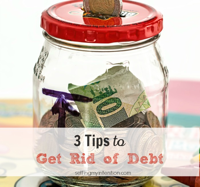 3 tips to get rid of debt
