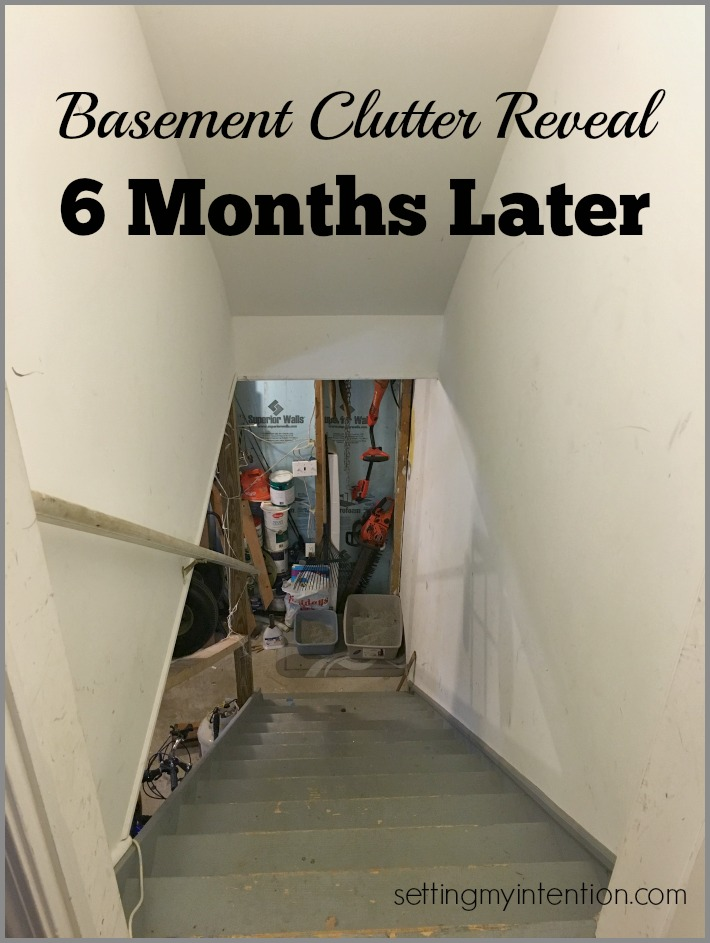 Basement Clutter Reveal January 2016