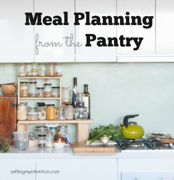 Meal Planning from the Pantry