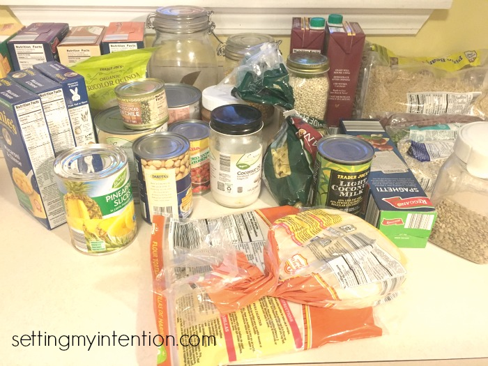 meal planning from pantry