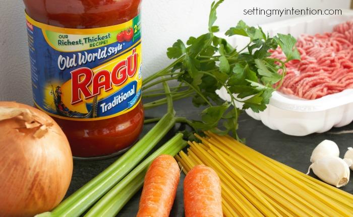 ragu pasta sauce ingredients
