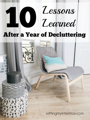 10 lessons learned decluttering