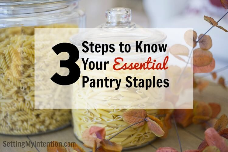 essential pantry staples