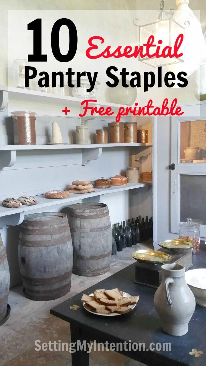 10 essential pantry staples
