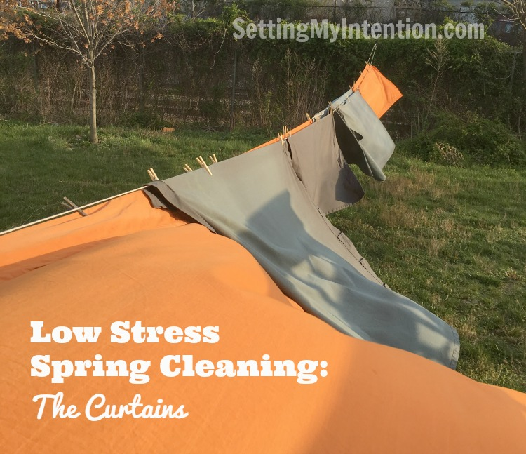 low stress spring cleaning curtains