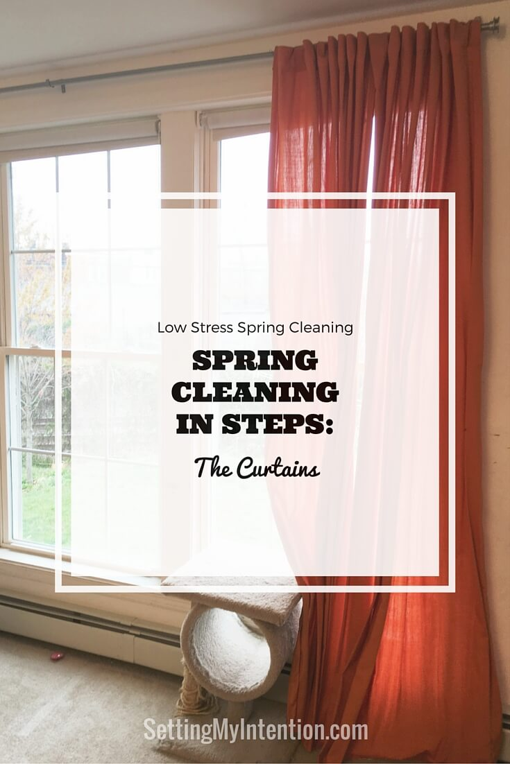 spring cleaning curtains