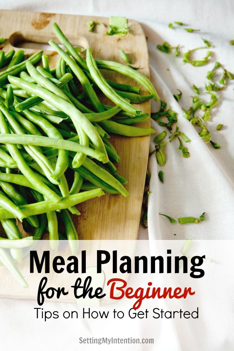 meal planning tips for beginner