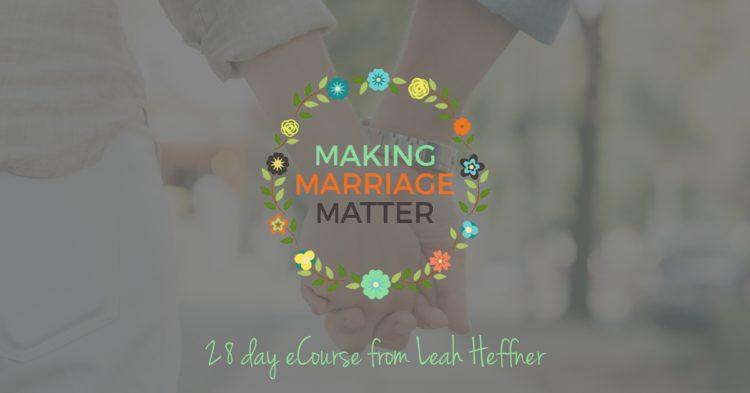 Making Marriage Matter