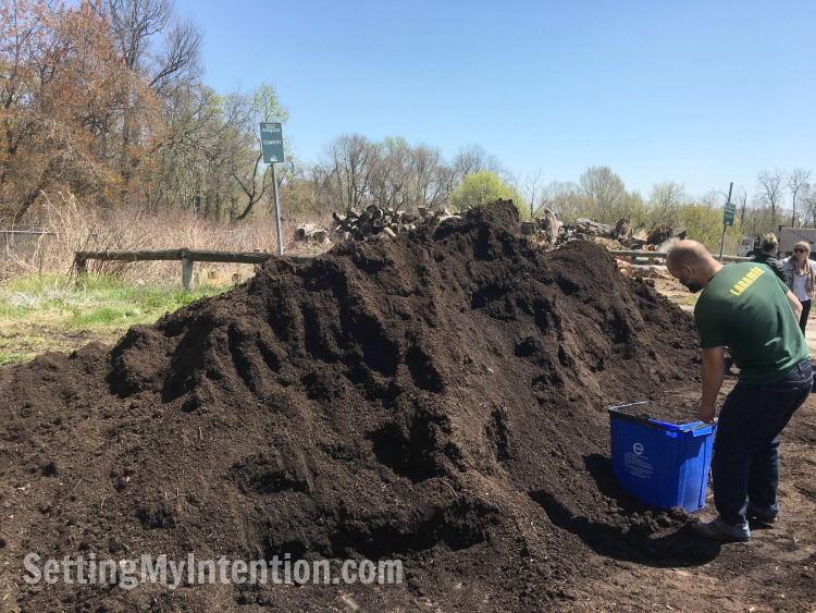 free compost for our budget vegetable garden