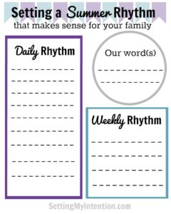 Summer Rhythm Free Printable