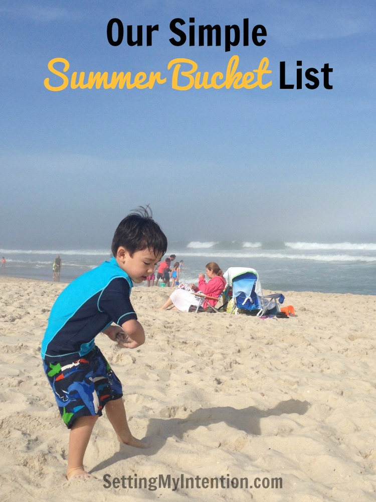 our simple summer bucket list