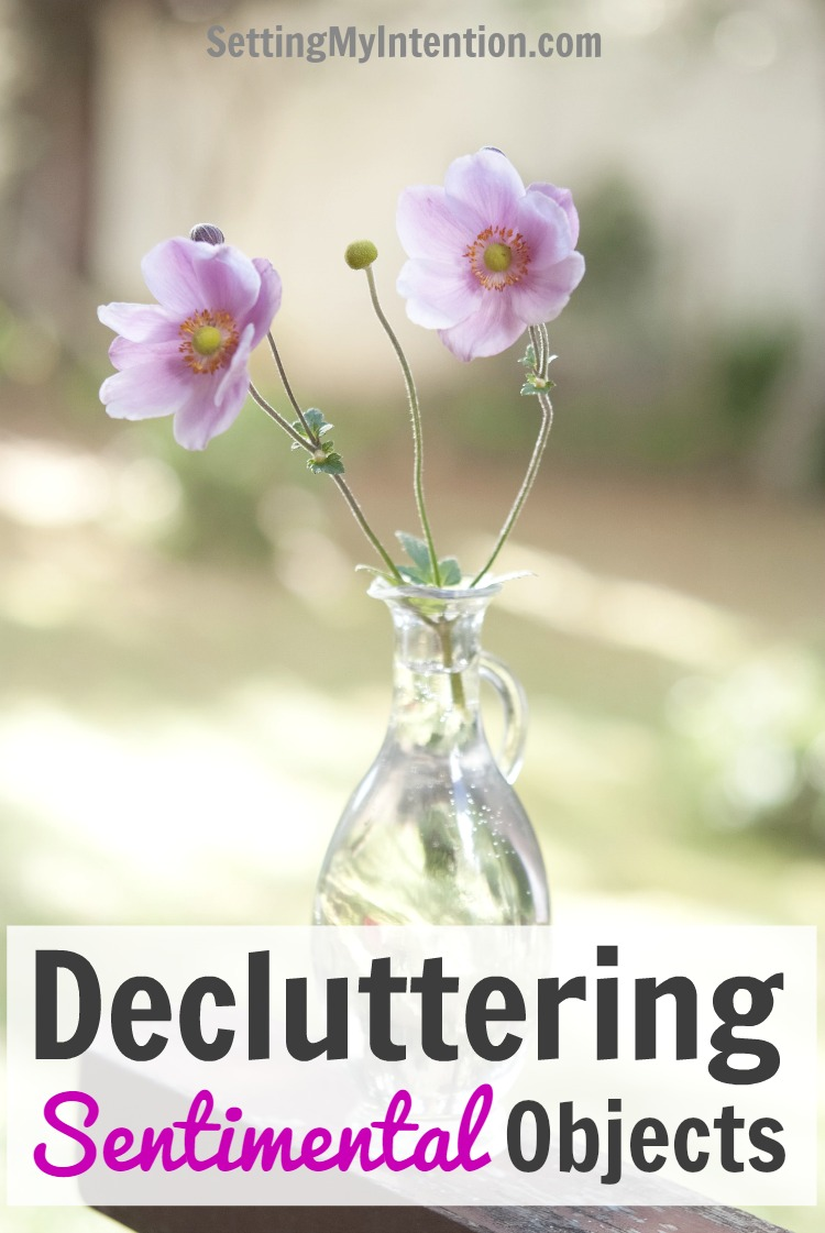 decluttering sentimental items