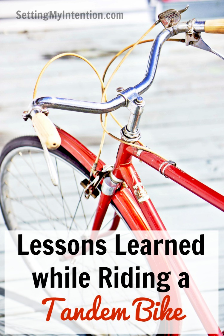 lessons learned from riding a tandem bike
