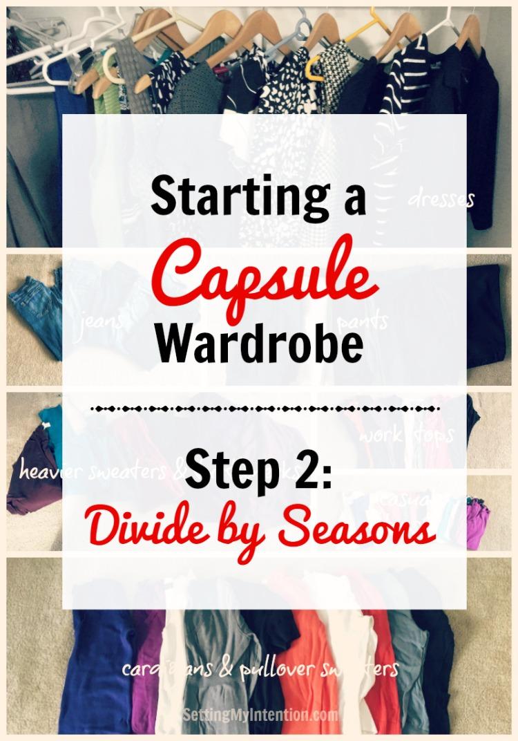 fall capsule wardrobe step 2