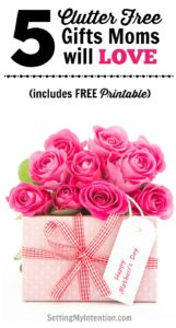 Clutter Free Gifts to Give Mom